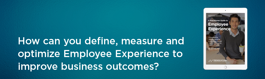 How can you define, measure and optimize Employee Experience to improve business outcomes?
