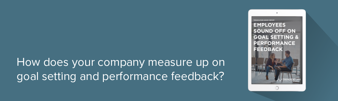 How does your company measure up on goal setting and performance feedback?