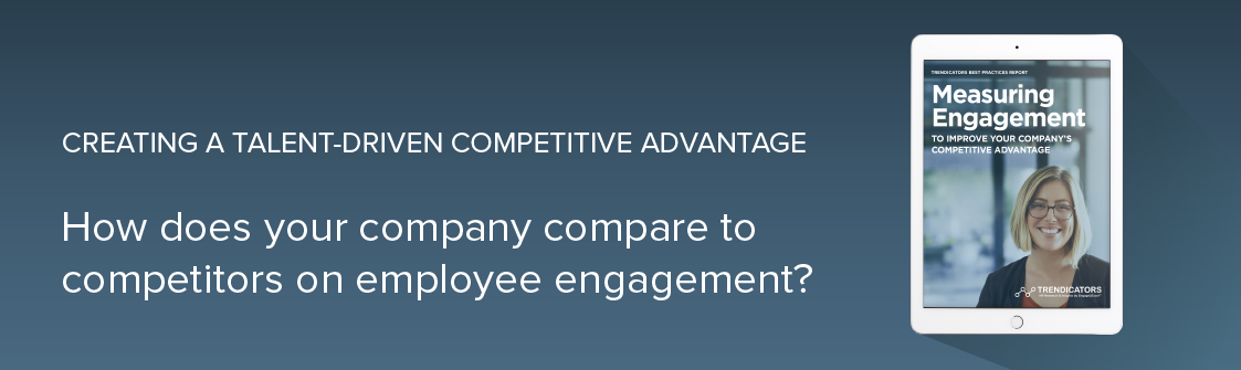 How does your company compare to competitors on employee engagement?